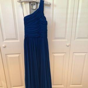 One Shoulder Cobalt Ballgown